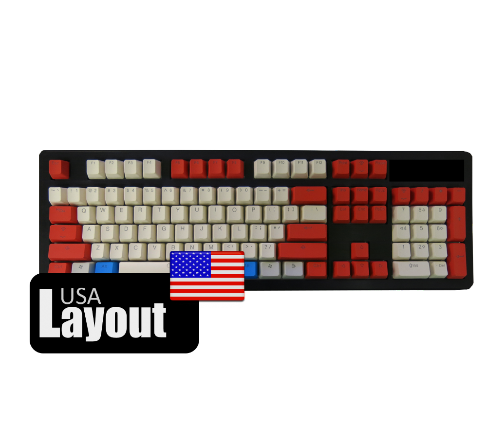 Tai-Hao ABS Backlit Double Shot Keycaps Red/White USA